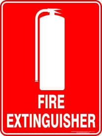 fire construction signs