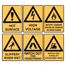 warning construction signs