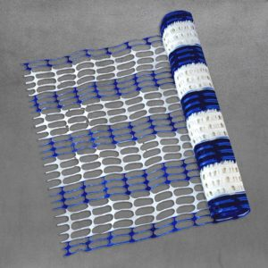Barber pole mesh blue