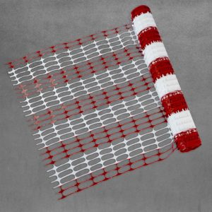 Barber pole mesh red