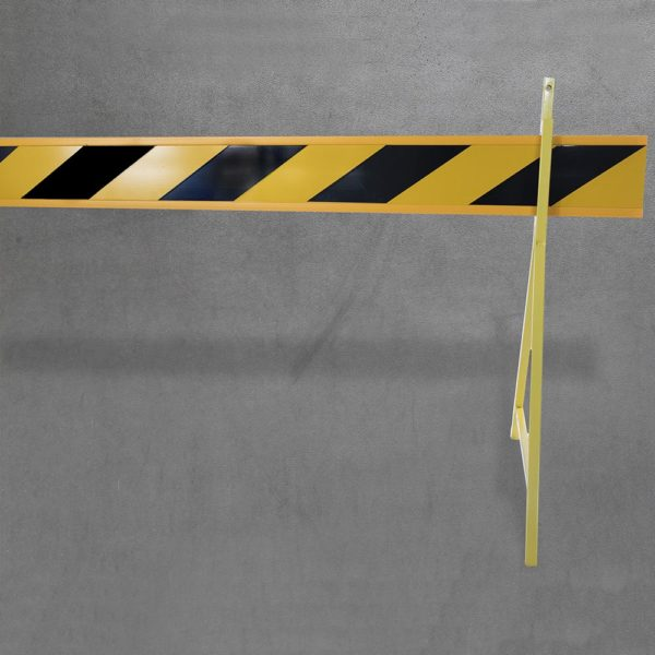 Barrier board - yellow with stand - front