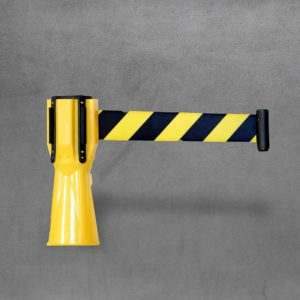Cone Top Retractable Barrier Tape 3m