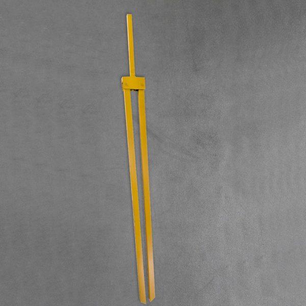 Folding leg - tubular yellow closed