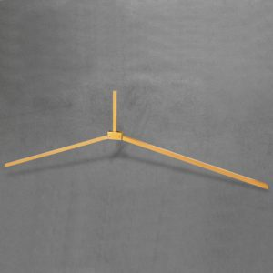 Folding leg - tubular yellow open