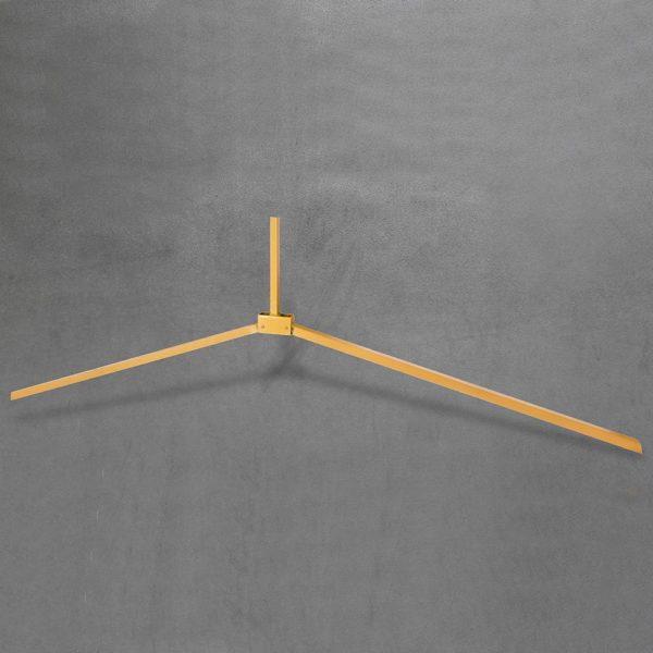 Folding leg - tubular yellow open