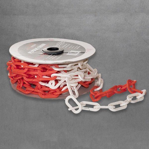 Plastic Chain 6mm x 10m Red-white