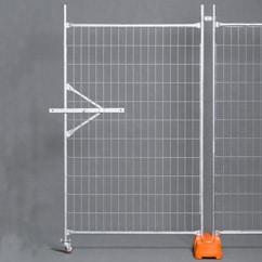 Temporary Fencing Half Wheel Panel