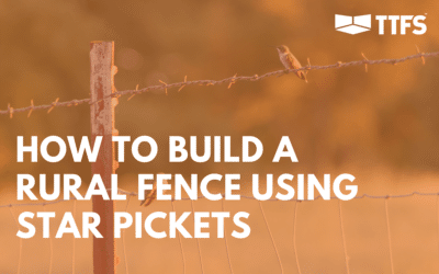 How to Build a Rural Fence Using Star Pickets